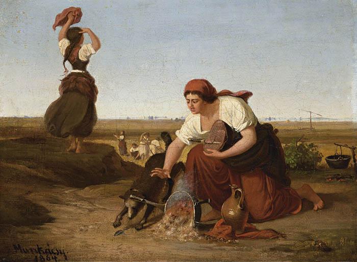 Munkácsy Mihály- A bogrács(1864) | Fotó: BÁV.