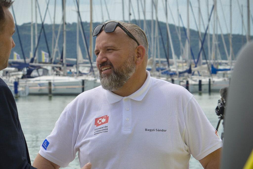 Bagyó Sándor, a Vízimentők Magyarországi Szakszolgálatának elnöke